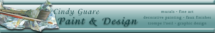 Cindy Guare Paint and Design murals fine art decorative painting faux finishes trompe l'oeil graphic design